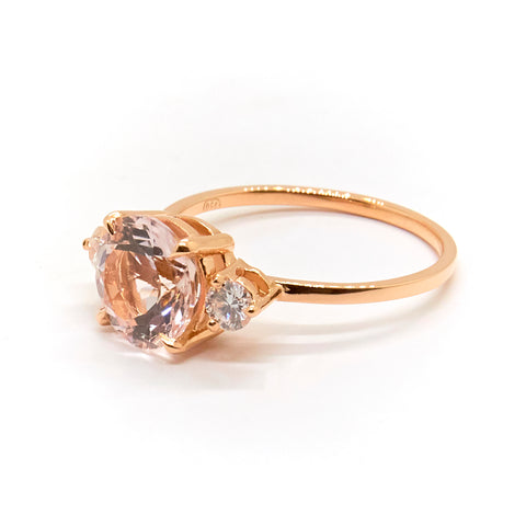 Precious Trio Ring | Morganite & Diamonds