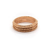 Triple Layered Textured Ring