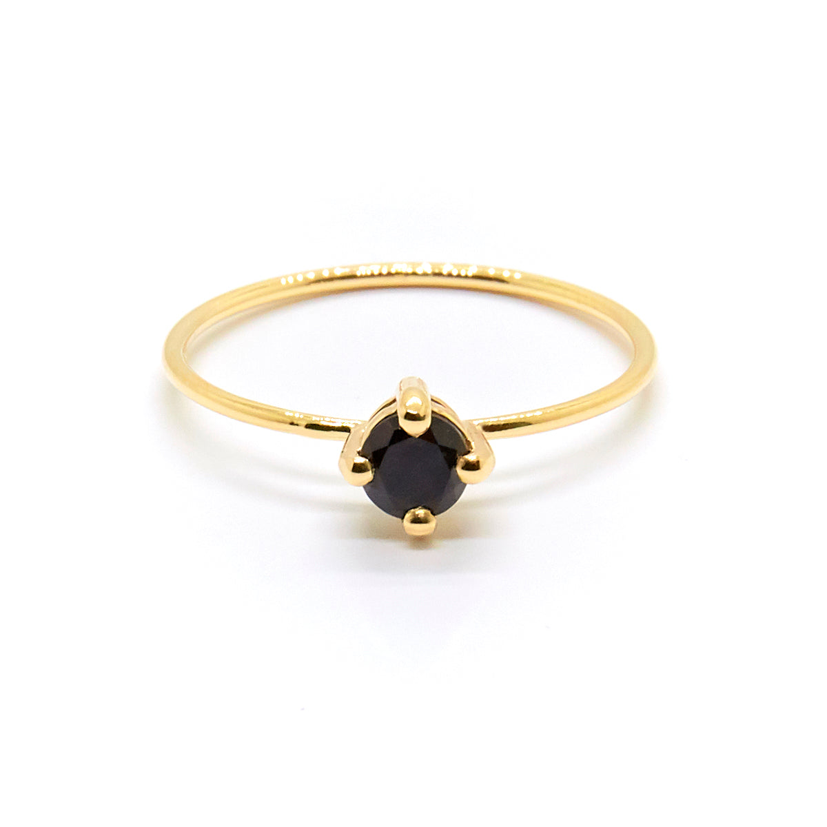 Small Black Stone Ring