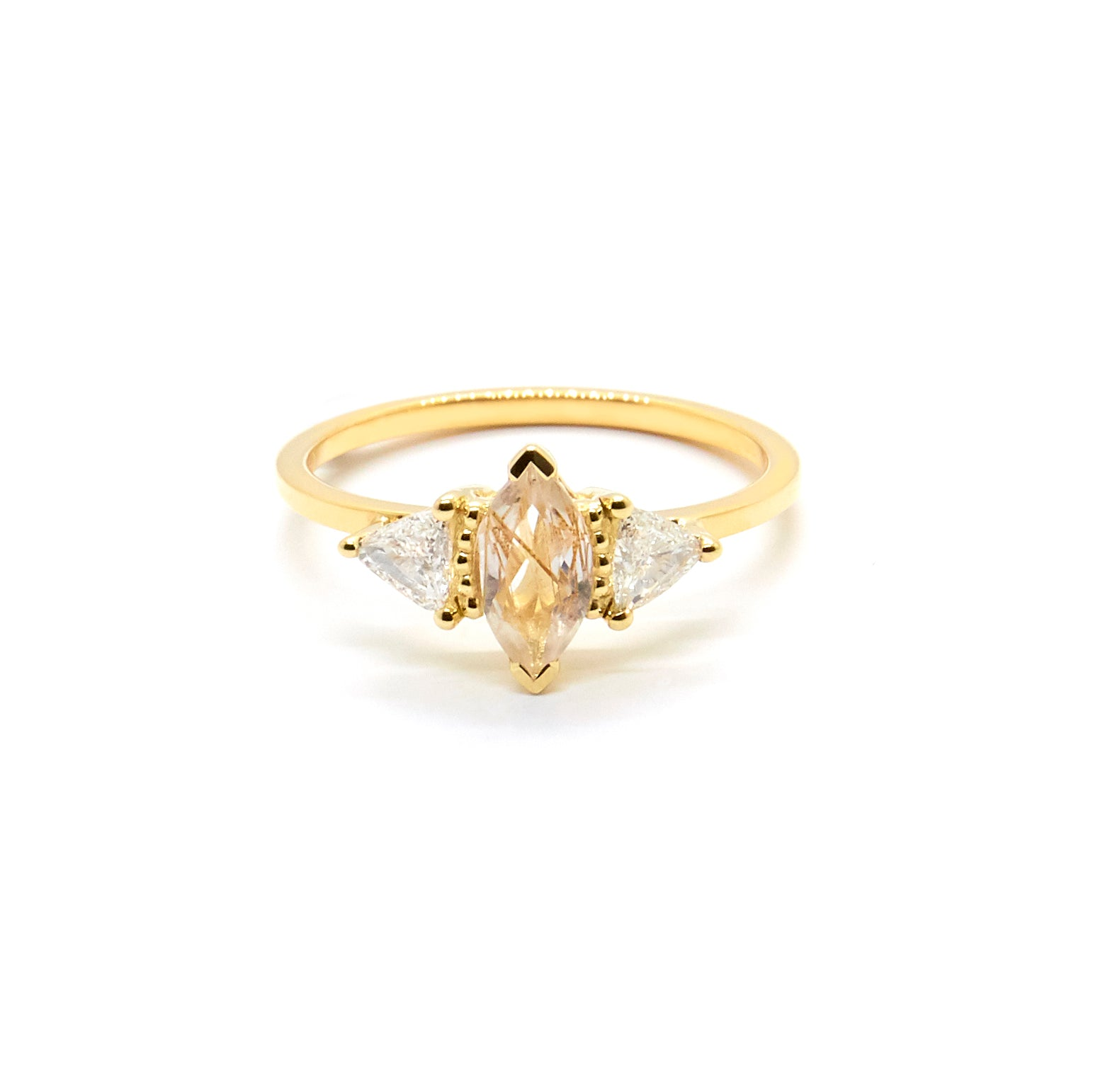 Della Ring | Rutilated Quartz and Diamonds