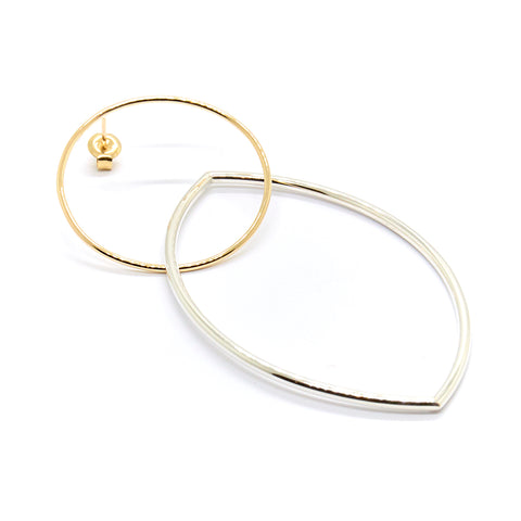 Marquise Loop Through Earrings