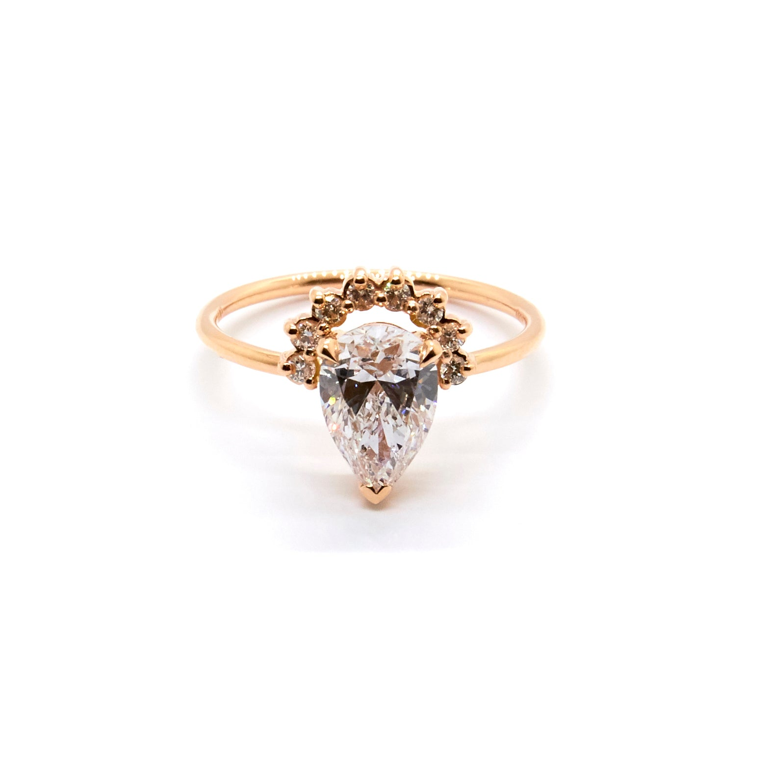 Pear Cut Diamond Ring | Bespoke 1602