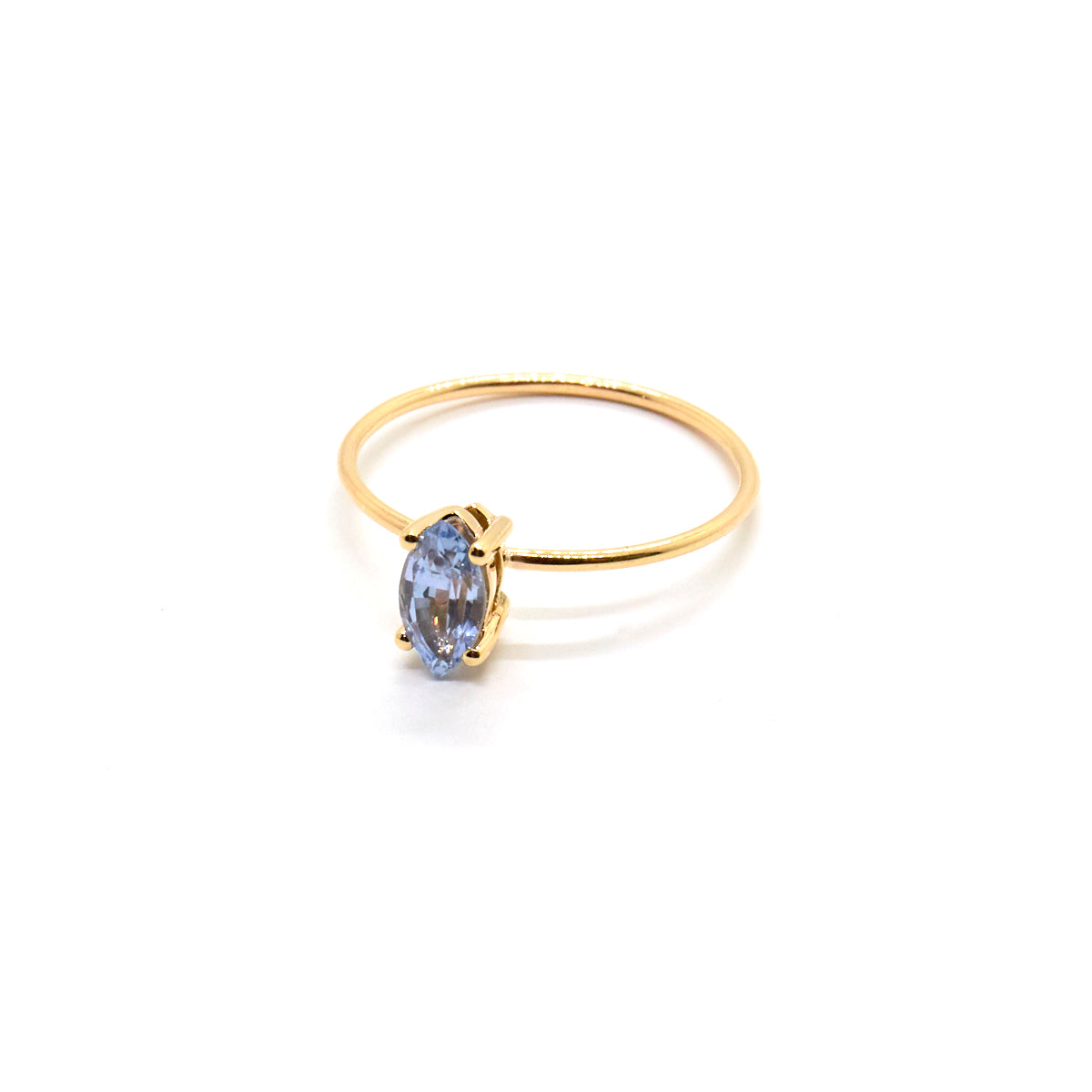 Marquise Ring with Pale Blue Sapphire