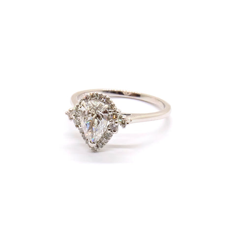 Diamond Pear Cut Halo | Bespoke 1677