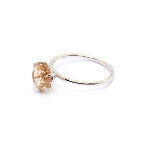 Rutilated Quartz Signature Solitaire | Bespoke 1680
