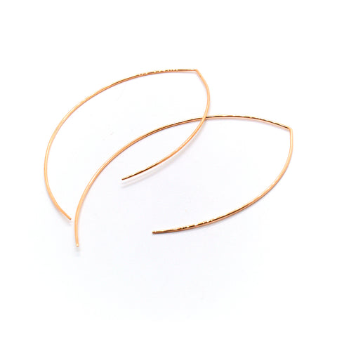 Oval Ear Hoops
