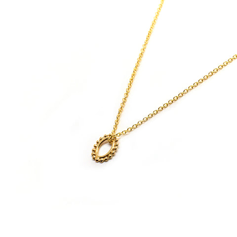 Tiny Dotted Oval Necklace