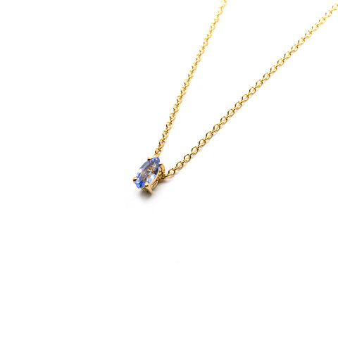 Tiny Marquise Pendant | Pale Blue Sapphire