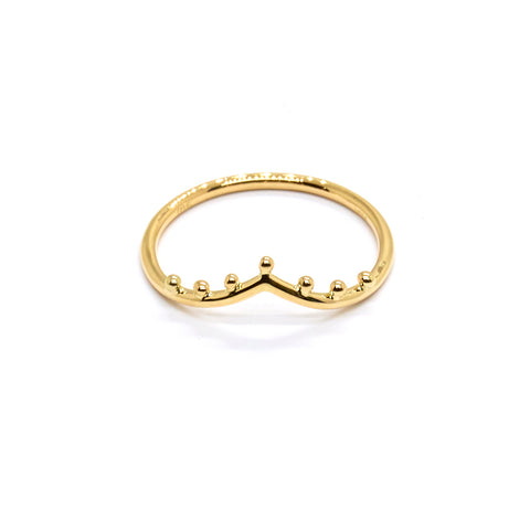 Dotted Gentle Point Ring