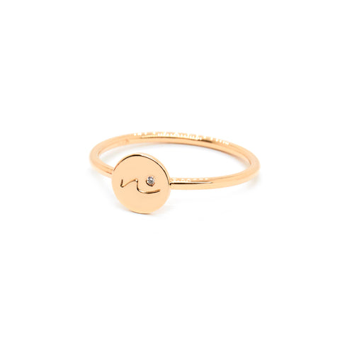 Precious Diamond Initial Ring