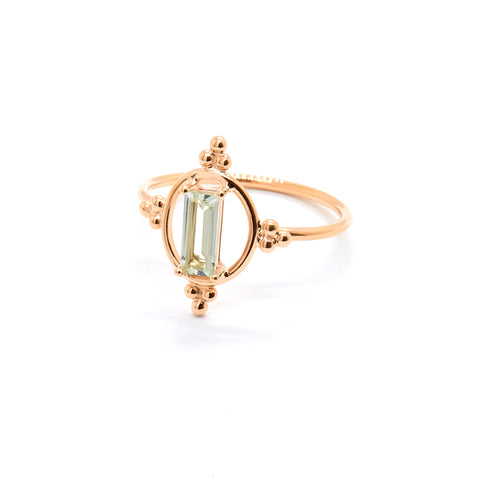 Alya Halo Ring | Green Amethyst