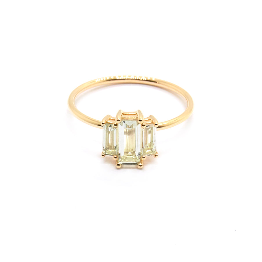 Elara Ring | Green Amethyst