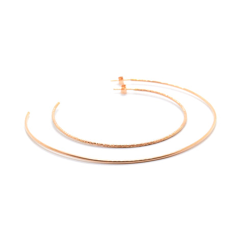 Small Faceted Open Hoops