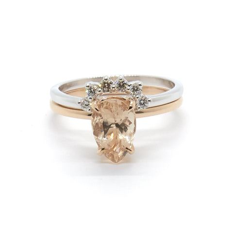 Diamond Crown for Precious Pear Solitaire