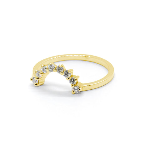 Diamond Crown for Pear Halo Ring