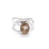 Crossover Oval Rutilated Quartz Ring