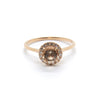Round Halo Ring | Morganite & Diamonds