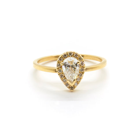 Pear Halo | 0.5 carat Diamond