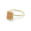 Emerald Cut Sunstone Ring