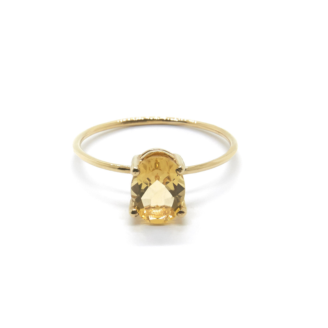 Oval Citrine Ring