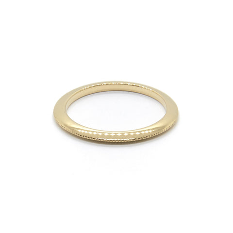 Knife Edge Millgrain Ring