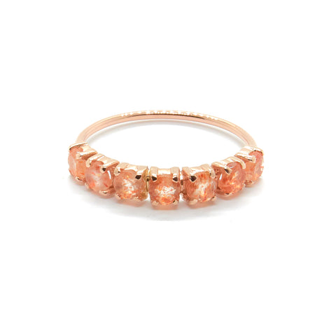 Stone Wrap Ring with Sunstone