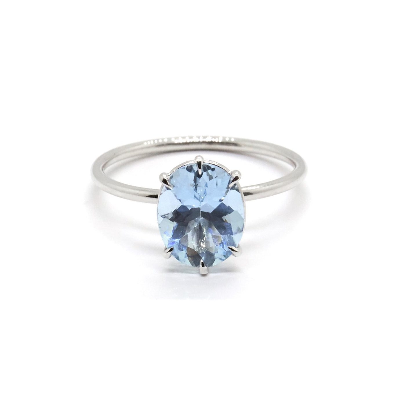 Oval Solitaire | Aquamarine