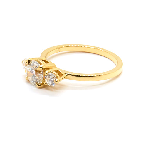 Diamond Trio Ring | 0.70 carat Diamond