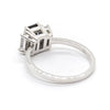 Baguette Diamond Trio Ring | Emerald Cut Australian Sapphire