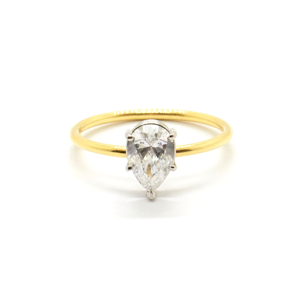 Pear cut Diamond Solitaire | 0.61 carat Diamond