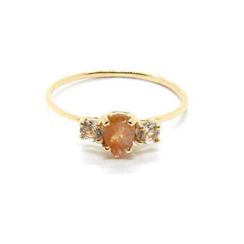 Pear Trio with Sunstone and Topaz