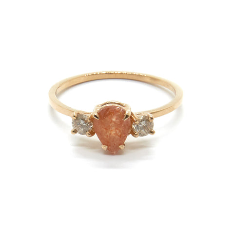 Precious Pear Trio Ring | Sunstone