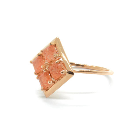 Quadrant Ring with Sunstone