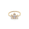 Marquise Sun Ring with Cubic Zirconia