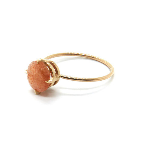 Large Sunstone Ring