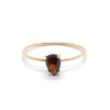Tiny Pear Ring with Garnet