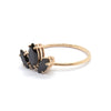 Marquise Sun Ring with Black Spinel