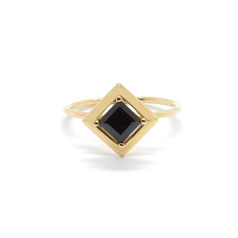 Single Quadrant Ring with Black Spinel