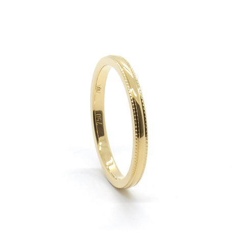 Millgrain Wedding Ring