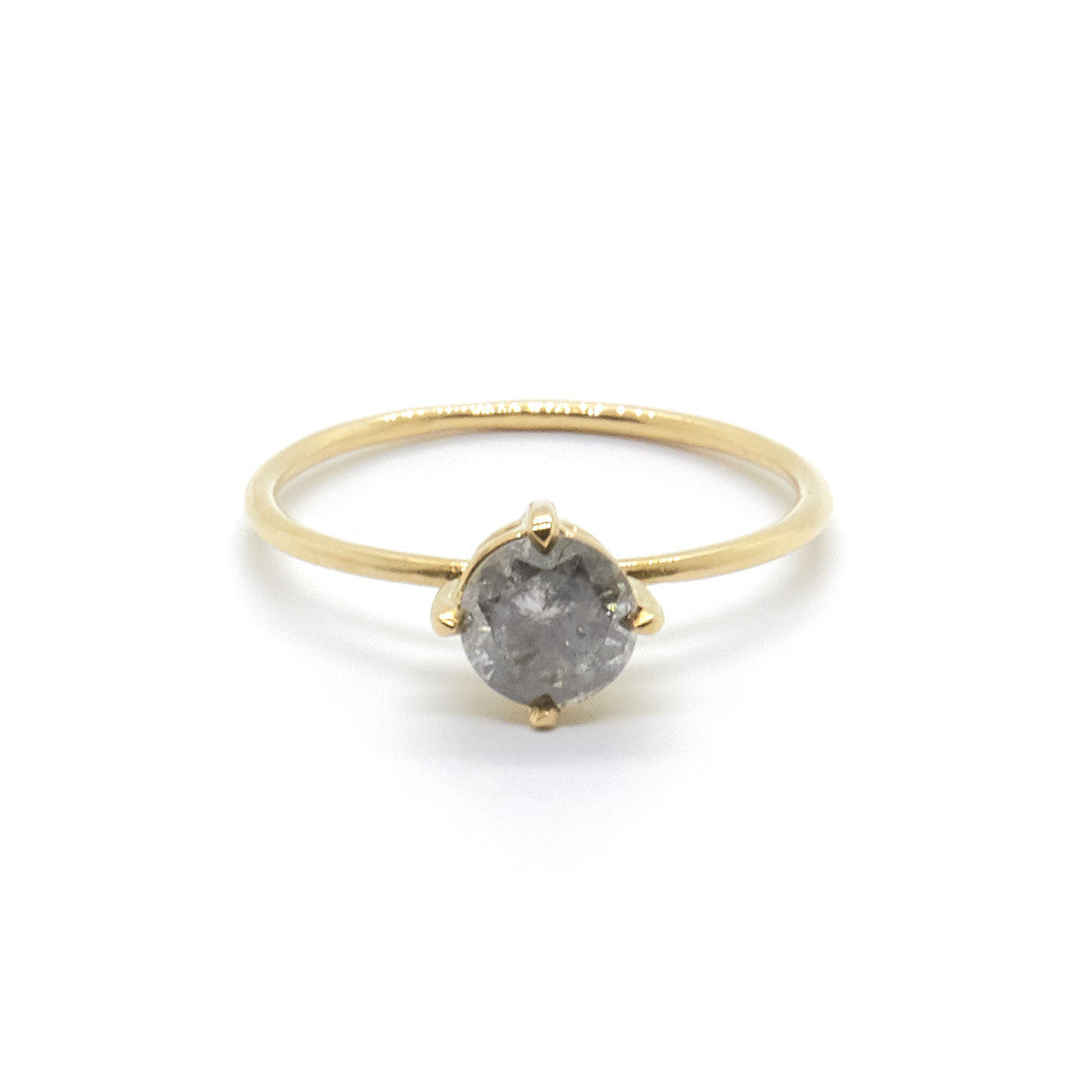 Small Salt and Pepper Diamond Ring