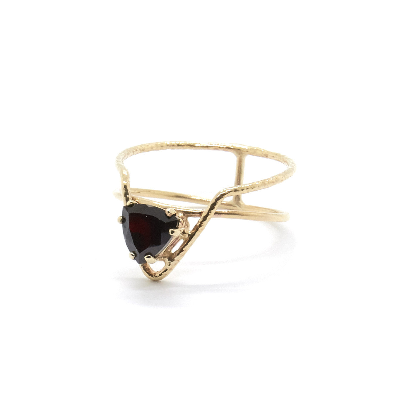 Offset Trillion Ring with Black Spinel