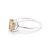 Precious Oval Rutilated Quartz Solitaire