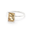 Emerald Cut Ring with Champagne Quartz