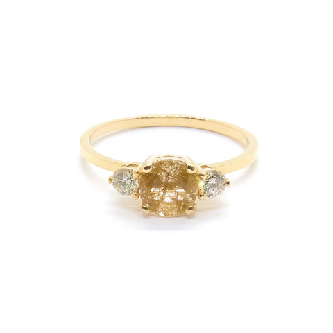 Petite Precious Trio Ring | Rutilated Quartz