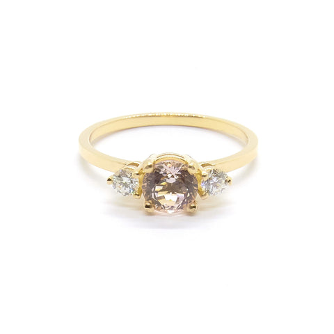 Petite Precious Trio Ring | Morganite
