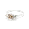 Petite Precious Trio Ring | Morganite & Diamonds