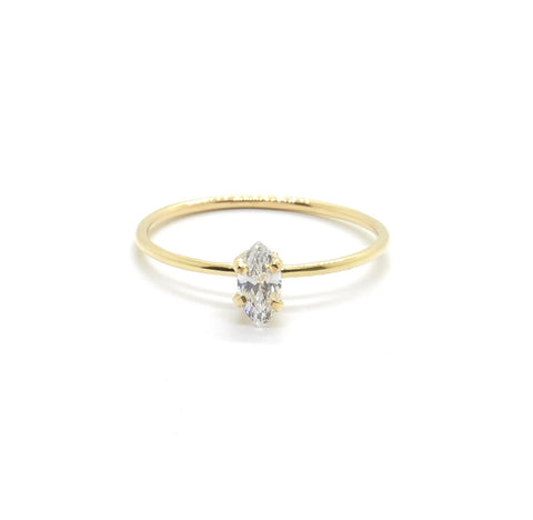 Tiny Marquise Ring with Cubic Zirconia