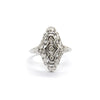 Vintage Filigree Plaque Engagement Ring