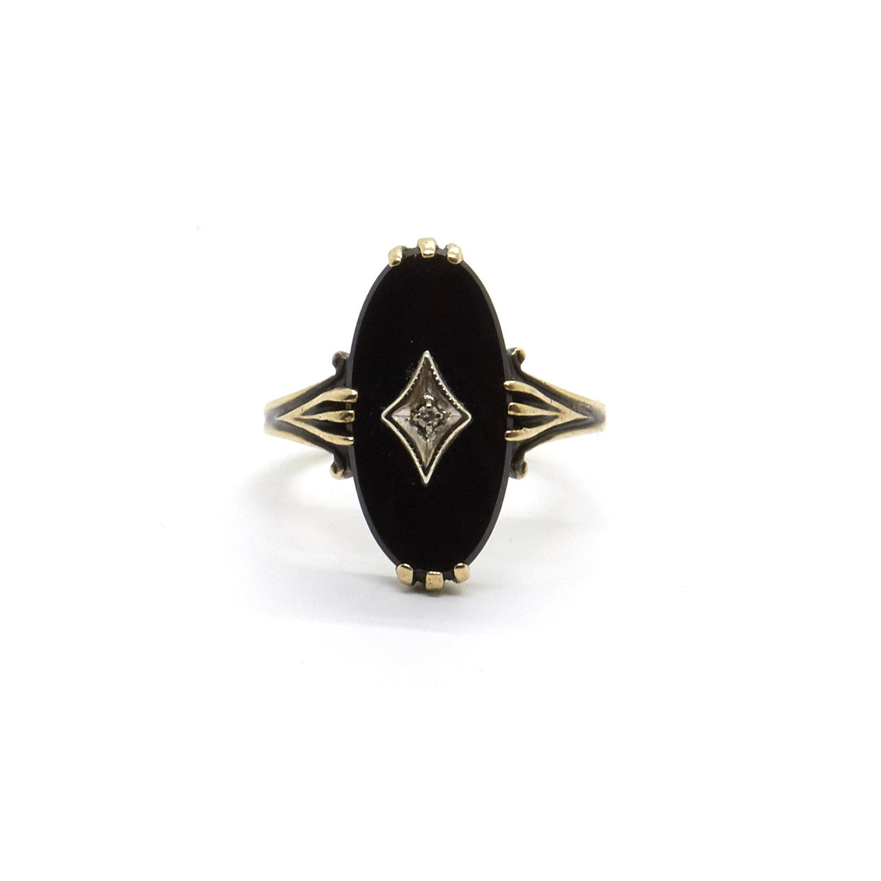 Art Deco Oval Onyx Ring