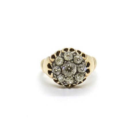 Antique Diamond Daisy Cluster ring